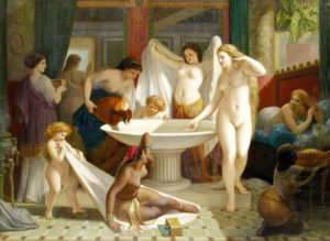 Young Women Bathing